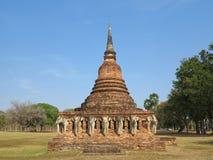 Gammal tempel för forntida tegelstenbrunt Royaltyfria Bilder