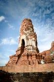 Gammal tempel för tegelsten Arkivbild