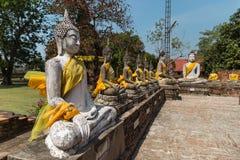 Gammal tempel i Ayutthaya Arkivbild