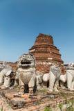 Gammal tempel i Ayutthaya Royaltyfri Fotografi