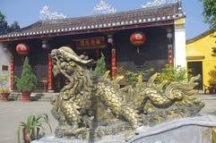 Gammal tempel i Hoi An fotografering för bildbyråer