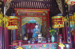 Gammal tempel i Hoi An arkivbild