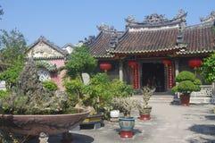Gammal tempel i Hoi An royaltyfri bild