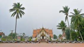 Gammal tempel i NAN stadsnord av Thailand Arkivbilder
