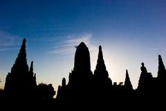 Gammal tempel i Thailand Arkivfoton