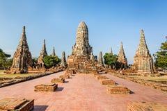 Gammal tempel, Wat Chaiwatthanaram Temple av det Ayuthaya landskapet Royaltyfri Fotografi
