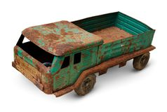 Gammal tenn- leksak, generisk auto lastbil Royaltyfri Foto