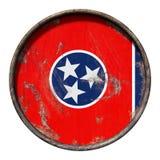Gammal Tennessee flagga Arkivbild