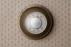 Gammal termostat Royaltyfri Bild