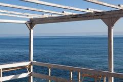 Gammal terrass över havet Royaltyfri Bild