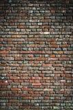 Gammal textur för bakgrund för vägg för röd tegelsten stads- Royaltyfri Fotografi