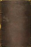 gammal textur för bokbrownläder Arkivfoton