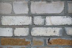 Gammal textur för grungetegelstenvägg arkivbild