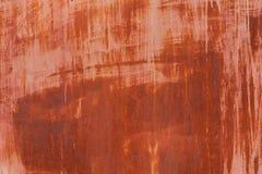 Gammal textur för metalljärnrost, bakgrundstextur av Rusted stål Royaltyfria Bilder