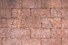 Gammal textur för stentegelstenvägg Arkivbild