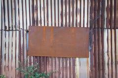 Gammal textur för tak för metallark Fotografering för Bildbyråer