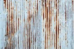 Gammal textur för tak för metallark Modell av det gamla metallarket Textur för metallark Royaltyfri Bild
