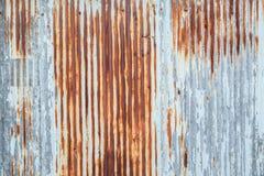 Gammal textur för tak för metallark Modell av det gamla metallarket Textur för metallark Royaltyfri Foto