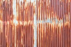 Gammal textur för tak för metallark Modell av det gamla metallarket Textur för metallark Fotografering för Bildbyråer