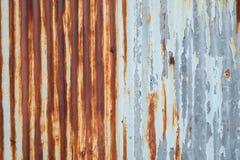 Gammal textur för tak för metallark Modell av det gamla metallarket Textur för metallark Arkivbild