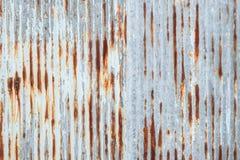 Gammal textur för tak för metallark Modell av det gamla metallarket Textur för metallark Arkivfoto