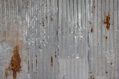Gammal textur för tak för metallark Modell av det gamla metallarket Textur för metallark Royaltyfri Fotografi