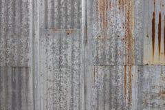 Gammal textur för tak för metallark Modell av det gamla metallarket Textur för metallark Arkivbilder