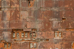 gammal textur för tegelsten Royaltyfria Bilder