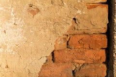 Gammal textur för tegelstenvägg Royaltyfria Foton