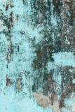 Gammal texturerad blå vägg med form Royaltyfri Foto