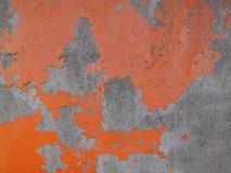 Gammal texturerad orange bakgrund för vägg Royaltyfri Foto