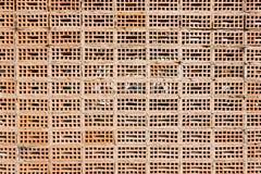 Gammal texturtegelstenvägg, bakgrund Arkivfoton