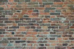 gammal texturvägg för tegelsten Arkivbild