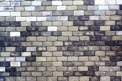 gammal texturvägg för tegelsten Royaltyfria Bilder