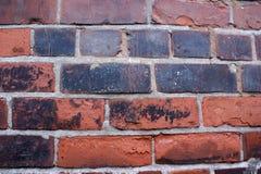 gammal texturvägg för tegelsten Arkivbilder
