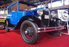 gammal tidmätare för blå fordmodell Royaltyfri Foto