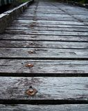 gammal timmer för bro Royaltyfri Bild