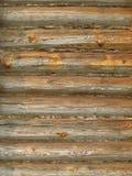 gammal timmervägg för loghouse Royaltyfri Bild