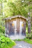 Gammal toalett Arkivfoto