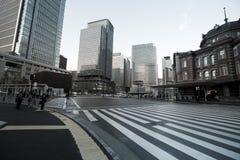 Gammal Tokyo järnvägsstationbyggnad Arkivfoto