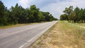Gammal tom landsväg i Ukraina royaltyfri foto