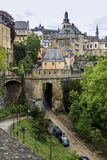 Gammal towm Luxembourg royaltyfri bild