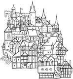 gammal town Royaltyfria Bilder