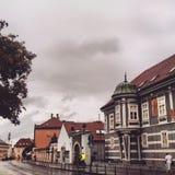 gammal town arkivbild
