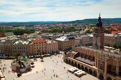 Gammal town av Cracow Arkivbilder