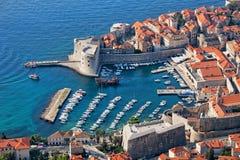Gammal Town av Dubrovnik i Kroatien Fotografering för Bildbyråer