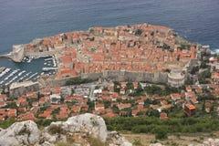 Gammal town av Dubrovnik, Kroatien Arkivbild