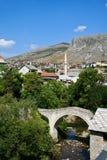 Gammal town av Mostar Arkivfoto