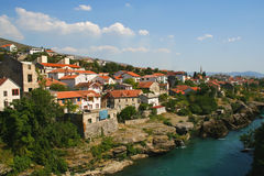 Gammal town av Mostar Royaltyfria Foton