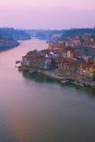 Gammal town av Porto, Portugal arkivbild